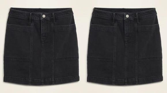 This short skirt is timeless.