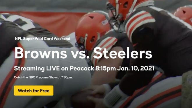 You can stream the Browns vs. Steelers game on NBC Peacock.