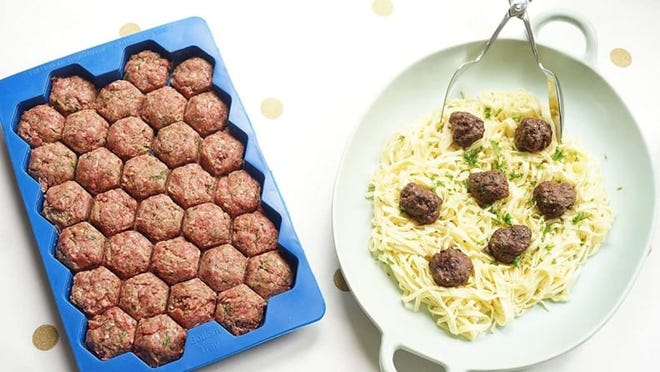 Minimal effort required to create perfectly shaped meatballs.