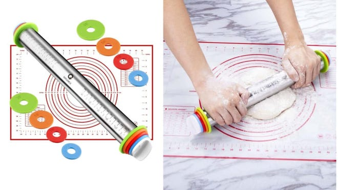 This rolling pin makes rolling out doughs to your desired shape or thickness simple.