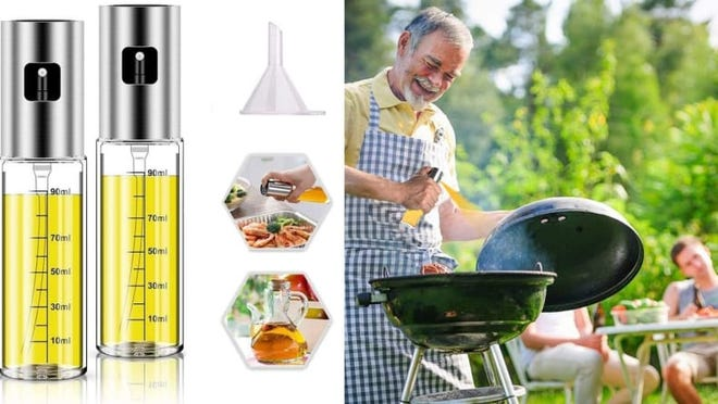 Spraying oils and marinades evenly can be easy!