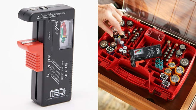 Not only are you getting a case--you're getting a way to test batteries.