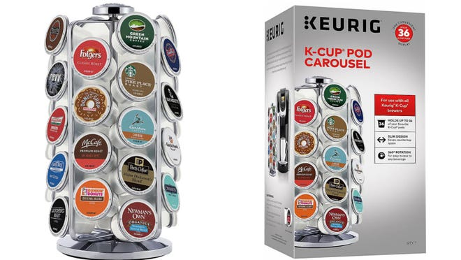 You'll be able to easily find your favorite K-Cup with this carousel.