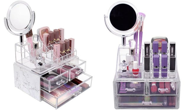 Big enough for all your favorite lipsticks, nail polishes, and more.