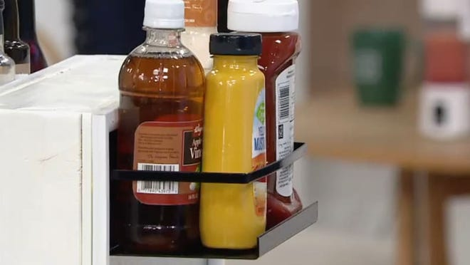 These magnetic shelving units are ideal for spices, condiments, and more.