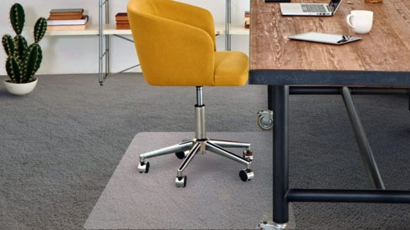 If you have a chair with wheels, you'll probably also want a vinyl mat.