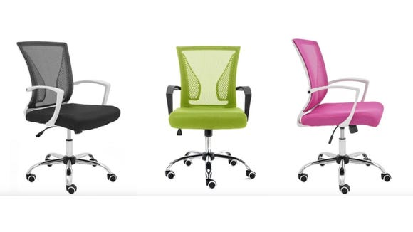 These chairs come in vibrant pops of color.