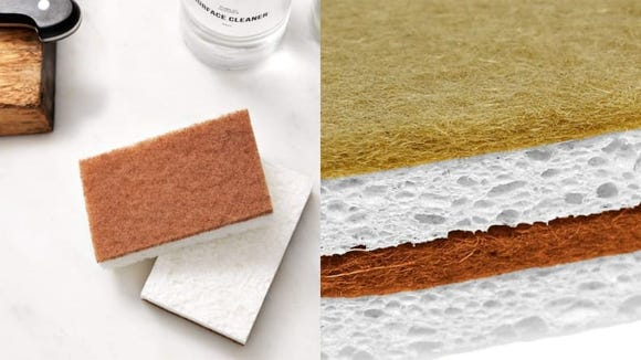 Old biodegradable sponges can be tossed in the compost when it's time for new ones.