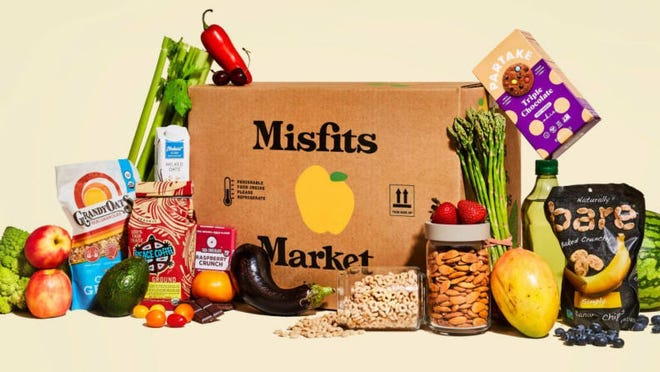 Misfits Market boxes include produce with minor imperfections that would otherwise go to waste.
