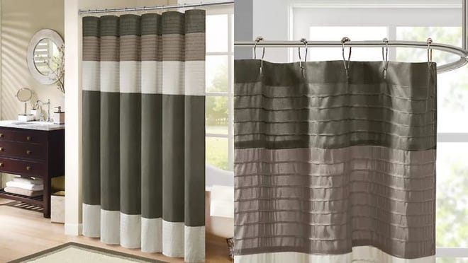 There are 10 colors to choose from for this shower curtain.