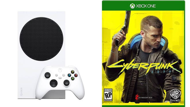 Grab an Xbox Series S at QVC and the hottest games, like Cyberpunk 2077, on the site.