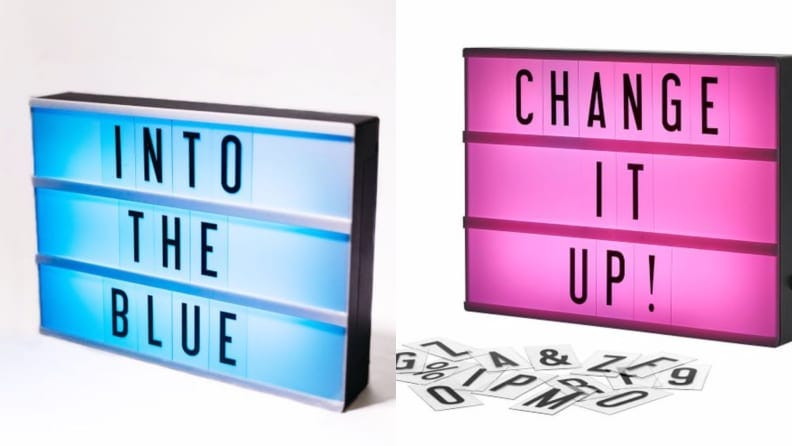 This color-changing light box will brighten any room long after the first day of school has passed.