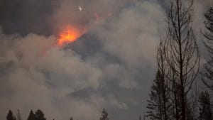 The Rice Ridge fire burns in the Seeley-Swan Valley.