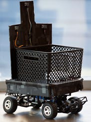 Clemson's Smart Shopping Companion Robot uses sensors