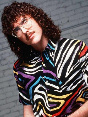 """""""Weird Al"""" Yankovic is seen in a vintage 1980s handout photo. In this time period, he wrote and recorded the holiday song, """"Christmas at Ground Zero."""""""