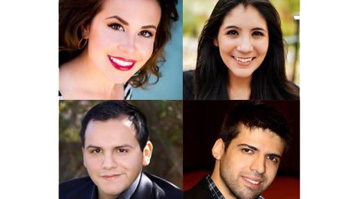 Clockwise: Jamille Brewster, Mariana Sandoval, Adrian Salas and Guillermo Gutierrez.