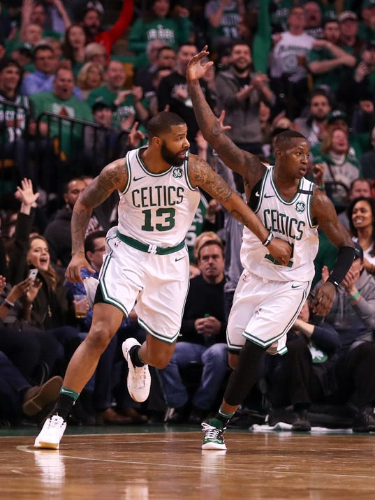 USP NBA: PLAYOFFS-MILWAUKEE BUCKS AT BOSTON CELTIC S BKN BOS MIL USA MA