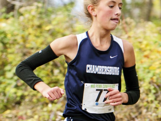 Chambersburg's No. 2 runner, Kaylee Mowery, placed 10th in the Mid Penn Conference meet and hopes to help the Trojans' shot at a District 3 team title Saturday at Big Spring.