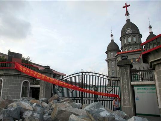 China toppling crosses