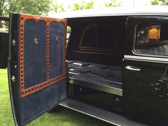 Families sometimes argue over who gets to ride in the classic hearse.