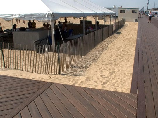 The Taylor Pavilion along the Belmar boardwalk stood here before it was swept away by superstorm Sandy in October 2012.Press file photo The Taylor Pavilion along the Belmar boardwalk stood here before it was swept away by superstorm Sandy in October 2012.