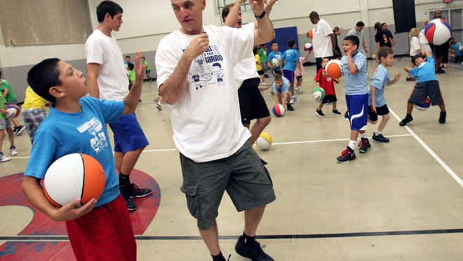 Over 125 kids from South El Paso schools participated in the 2012 Basketball in the Barrio camp at the Armijo Recreation Center.