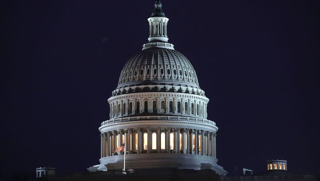 WASHINGTON, DC - JANUARY 02:  The U.S. Capitol is seen on the 12th day of a partial shutdown of the U.S. government, on January 2, 2019 in Washington, DC. With the new congress scheduled to start on January 3, 2019, Congressional Democrats and Republicans have not come to a bipartisan solution to President Donald Trump's demands for more money to build a wall along the U.S.-Mexico border.  (Photo by Mark Wilson/Getty Images) ORG XMIT: 775276064 ORIG FILE ID: 1076541884