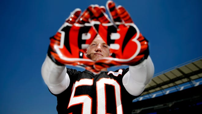 """A.J. Hawk signed as a free agent with the Cincinnati Bengals during the offseason. """"I figured once the (Packers) were done with me, it would be kind of a dream to come back here."""" Hawk said after officially signing his two-year contract with the team in March. """"Now it's a reality. It was 100 percent my first choice."""""""