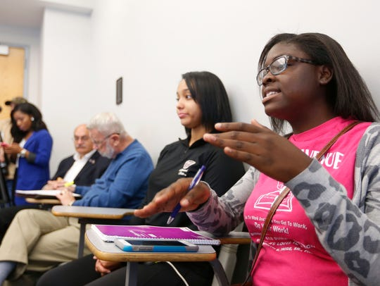 Jasmine Newman, a freshman at Missouri State, talks