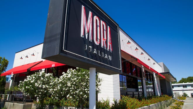 Exterior of Mora Italian, an upscale restaurant and bar at 5651 N. Seventh St. in Phoenix, Friday, May 19, 2017.