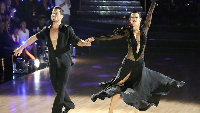 """""""Val Chmerkovskiy and Rumer Willis perform during the 'Dancing With the Stars' season finale on Tuesday, May 19, 2015. (ABC/Adam Taylor)"""""""