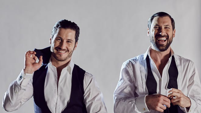 Pro dancers Valentin, left, and Maksim Chmerkovskiy come to Spartanburg with their new show, Maks & Val Live on Tour.