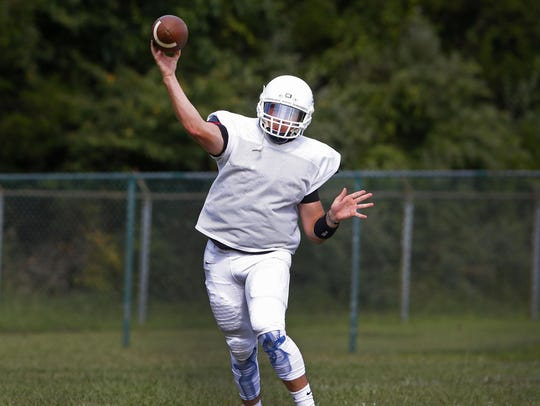 Freehold Township quarterback Charles Sabbagh makes
