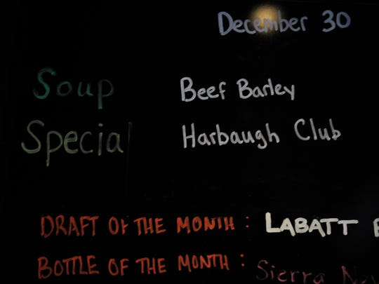"The Arena has a new sandwich on the menu -- the ""Harbaugh Club."""