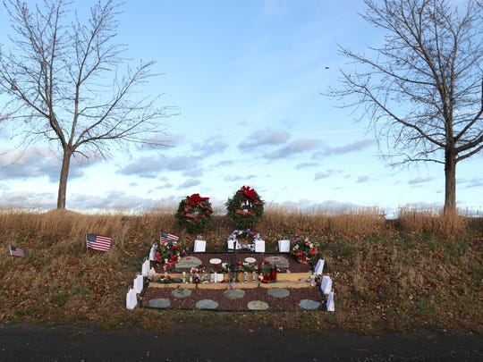 People came out and paid respects to the memory of West Webster volunteer firefighters Michael Chiapperini and Tomasz Kaczowka who were shot and killed when responding to an intentionally set fire in 2012.