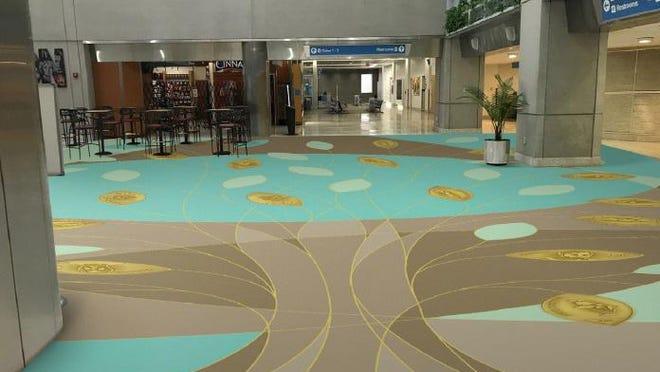 A rendering of Lenny Spengler's planned floor art.