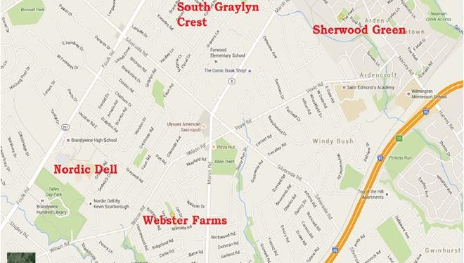 Police are investigating a rash of home burglaries in northern New Castle County.