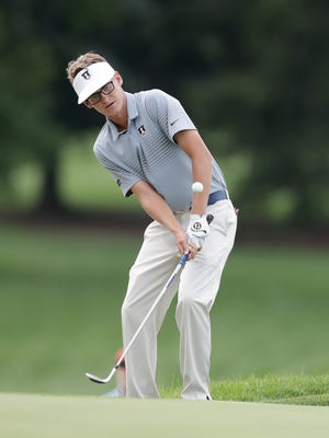Evansville native Dylan Meyer posted a first-round 77 in the 118th United States Open Championship at Shinnecock Hills Golf Club.