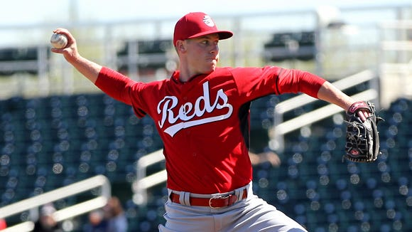 Right-hander Anthony DeSclafani is competing for a spot in the Reds' rotation.