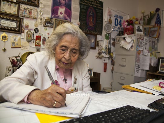 Cruz is pictured in her office on Sept. 17, 2013, in