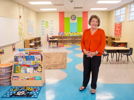 Dr. Edith Lombardo, principal of the Young Explorers Academy, a new private school, poses for a portrait in a classroom on June 15, 2017. This school offers a unique curriculum that combines outdoor experiences with Montessori principles and faith-based education, is set to debut in Naples for the 2017-18 academic year.