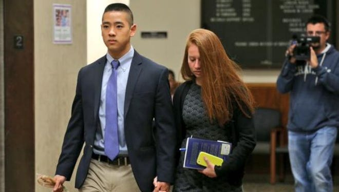Charles Tan leaves court Thursday, Oct. 1, after three days of jury deliberations.