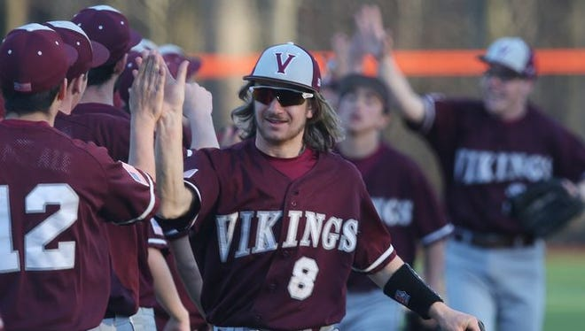 Valhalla came from behind to defeated Briarcliff 6-5 in a boys baseball game at Briarcliff High School April 15, 2016.
