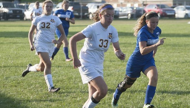 Unioto's girls soccer program is off to a 4-1 start this season, one where they've outscored their opponents 18-2. Freshman Erin Callahan (pictured) has been a big boost to the Shermans' offense so far.