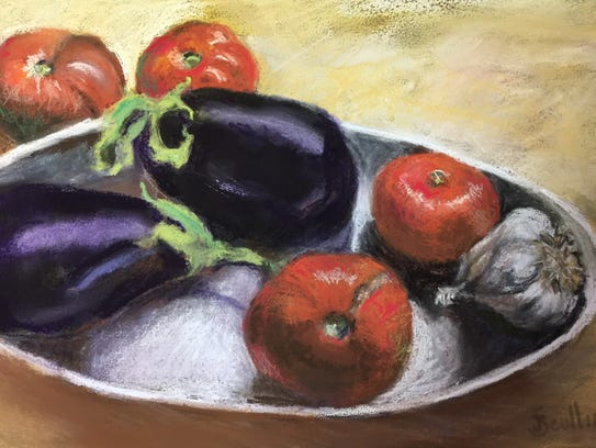 """""""Late Summer to Eat,"""" a pastel by Judy Scull, will"""
