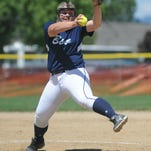 Marina LaRocque delivers a pitch for Great Falls High in a Friday win over Capital.