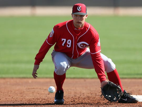 Nick Senzel, the Cincinnati Reds' top prospect, will compete for the starting center field job in Spring Training.