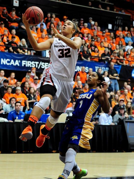 Hunter fills key role for Oregon State women's basketball team
