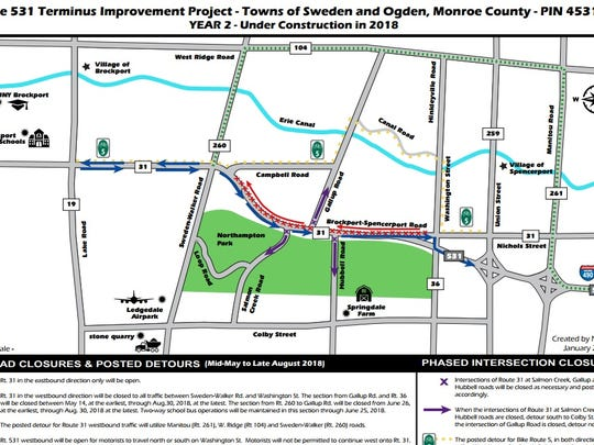 Route 531 construction plan for 2018