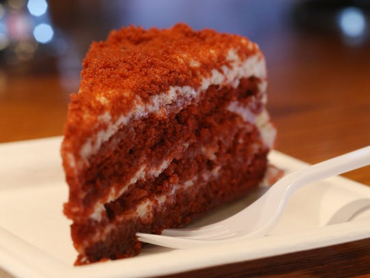 The red velvet cake from the Matchbox Cafe in Rhinebeck